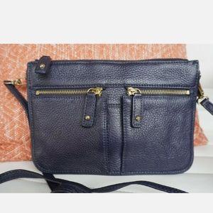 Navy Talbott leather purse